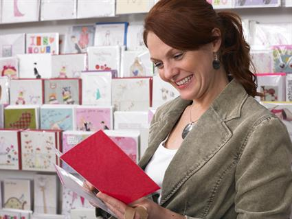 Buying a greeting card shop