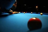 pool hall with 6 - 1
