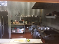 Looking into the kitchen